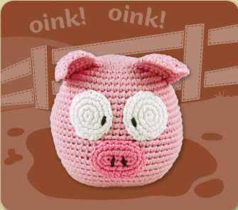 Dandelion - Organic Handcrafted Roly Poly - Pig - Hugs For Kids