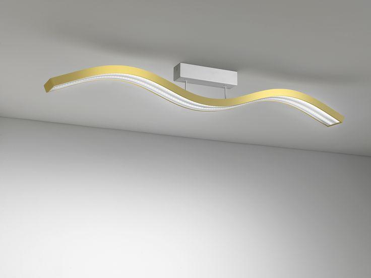Nev Volo ceiling lamp gold -  New Volo plafoniera led oro #lighting #design