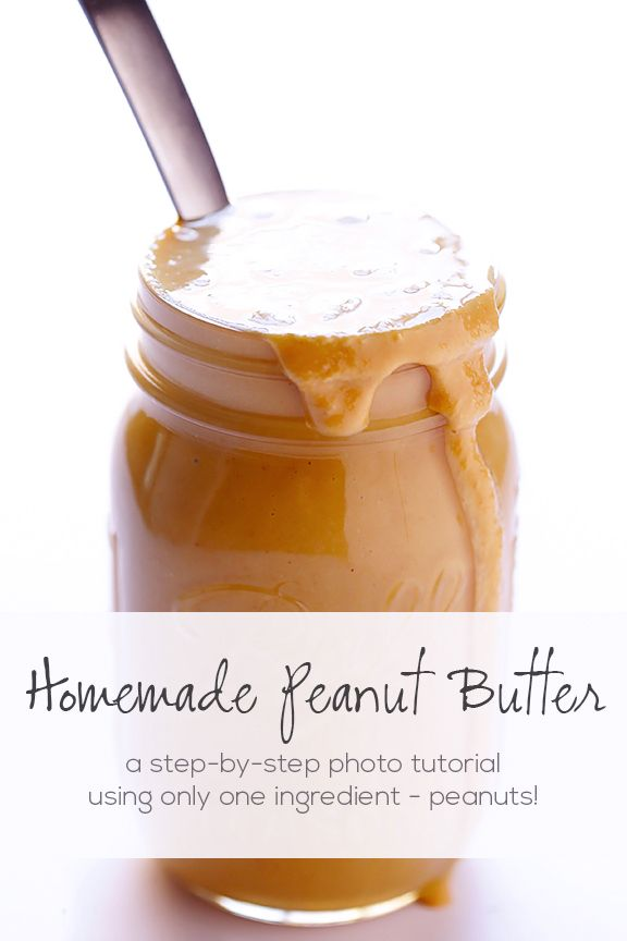A quick and easy way to make delicious, 100% natural homemade peanut butter! Detailed instructions and photos included.