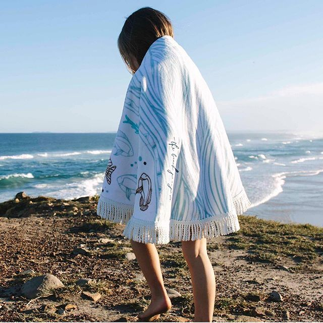 Salt Living | For those who live by the sea | Petite Roundies by The Beach People #thebeachpeople #roundtowel #beachtowel