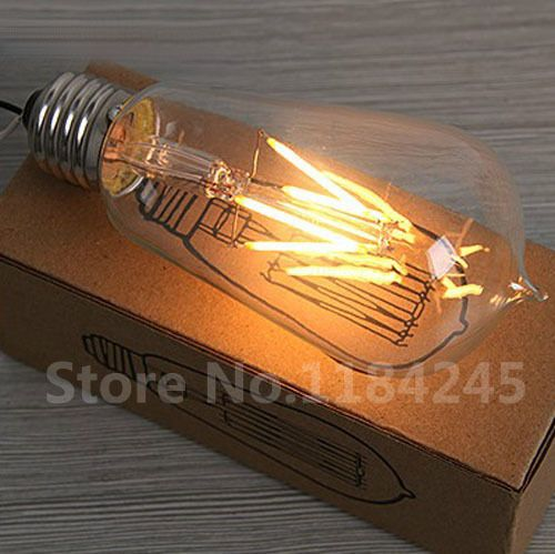 Good New arrival ST filament edison LED bulb e led White W W W V V AC