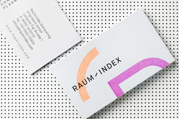 Raumindex by Moodley, Austria. #branding #businesscards