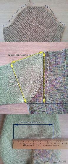Вязание втачного рукава.