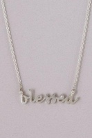 """Diamond Accented Necklace. This blessed necklace is timeless, ageless and can be worn for any occasion with a touch of sparkle. Details: """"blessed"""" measures 1 inch soldered to a 1mm chain 2 diamonds accent the tip of the """"b"""" and """"d"""