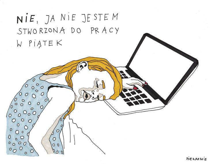#piątek #ja #nie #nieładnie #nieladnie #nieladnierysuje #ilustracja #rysunki #kamila #szcześniak #illustration #drawing #sketching