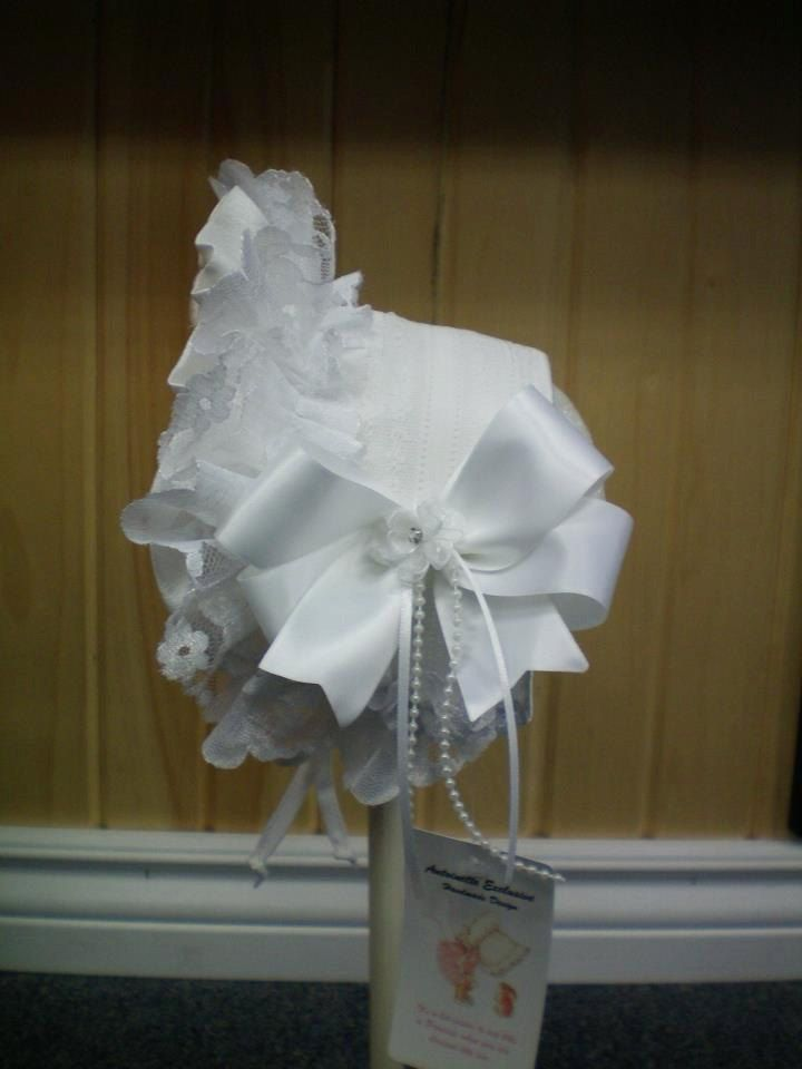 Frilly Bonnet Style Headband, Half Bonnet Frilly Lacy by AntoinetteExclusives on Etsy