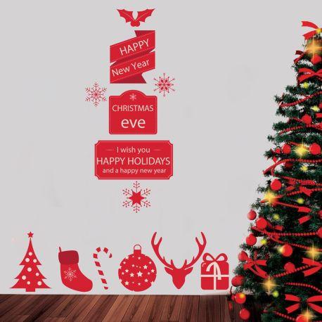 Αυτοκόλλητα για τζάμια - χριστουγεννιάτικες ευχές