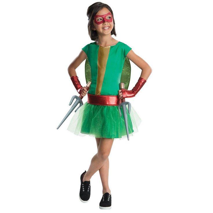 Teenage Mutant Ninja Turtles Deluxe Raphael Girl Tutu Costume - Kids, Size: 8-10, Red