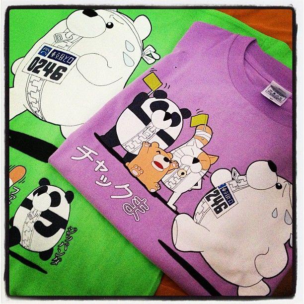東京マラソン用のチャックまTシャツ、出来てきたー! #chackma #tshirts #東京マラソン