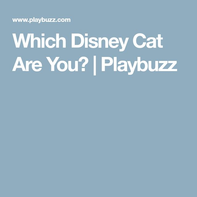 Which Disney Cat Are You? | Playbuzz