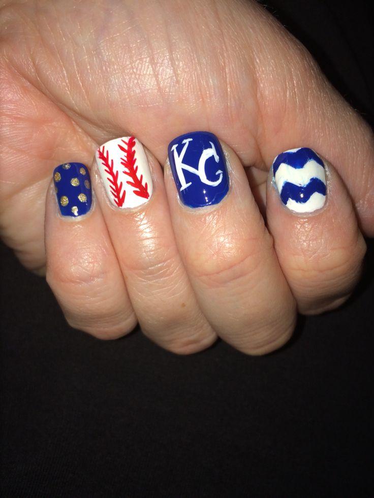 KC Royals Nail Art