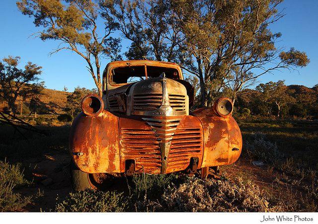 Rusty old car Outback Australia .