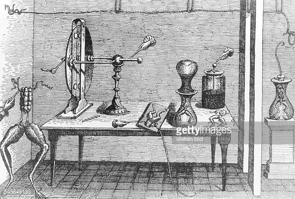 News Photo : Luigi Galvani, italian scientist. Late 1780s...