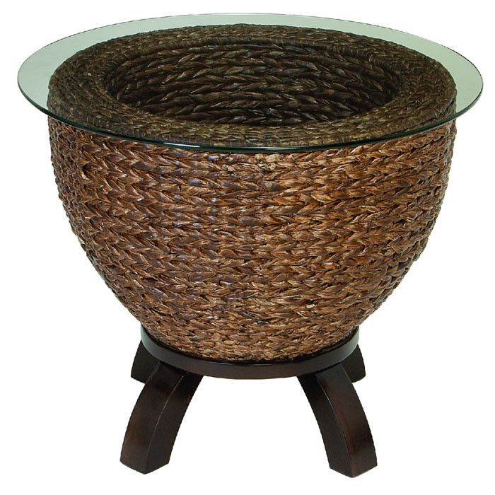Cardiff Wicker End Table