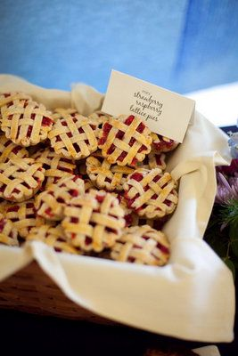 mini pies with flags...