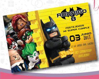 Batman Lego Movie, Batman Lego, Batman Invitation, Batman Party, Batman Birthday, Batman Printable, Batman Lego