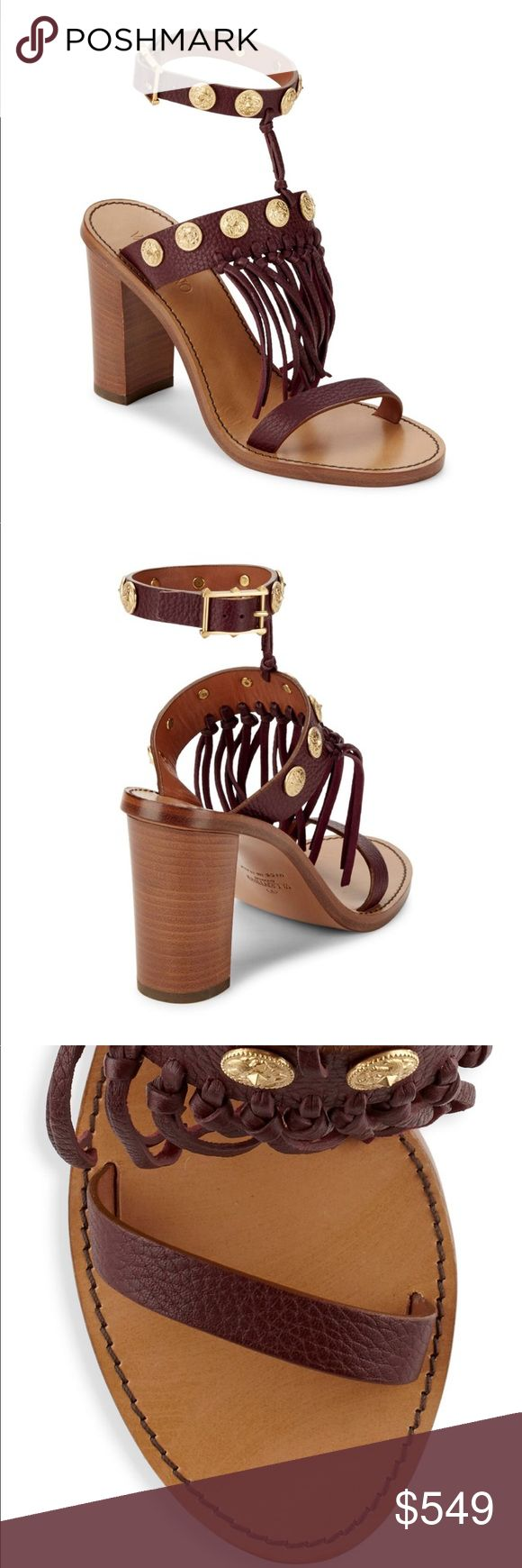 Valentino Garavani sandals Studded fringe leather ankle-wrap sandals. Fits like a size 9. Valentino Garavani Shoes Sandals