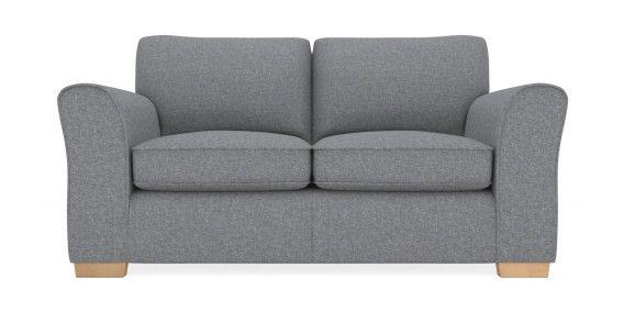 buy michigan small sofa 2 seats versatile plain mid grey slim block light from the next uk. Black Bedroom Furniture Sets. Home Design Ideas