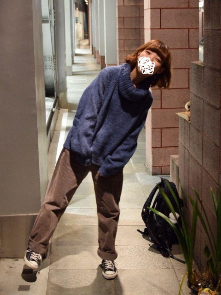 EMiさんのニット/セーター「Kastane オフタートルプルオーバー」を使ったコーディネート