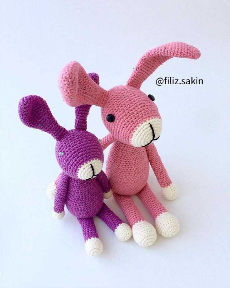"""492 Beğenme, 11 Yorum - Instagram'da Filiz Sakin (@filiz.sakin): """"Anne kız tavşanlarımı çokkk sevdim  #amigurumi #amigurumidoll #amigurumilove #virkning…"""""""