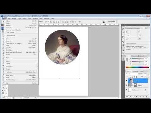 Как вырезать круг из картинки в фотошопе - YouTube