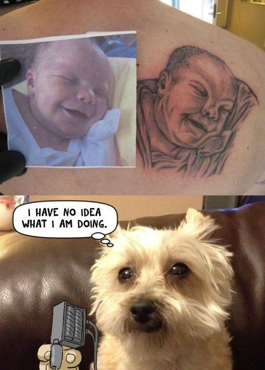 Funny tattoo fail - http://www.jokideo.com/