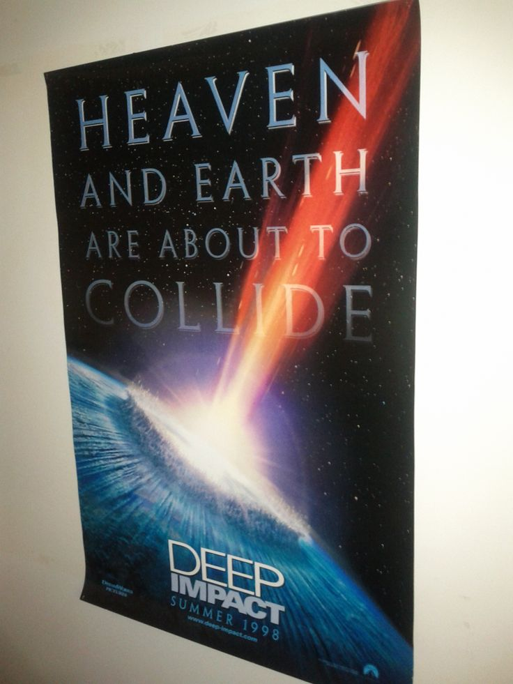 Deep Impact Poster $31.50 (Plus Shipping and Handling)