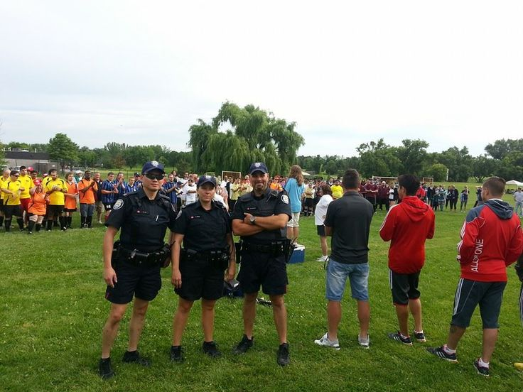 Thanks to members of the Toronto Police for coming out in support