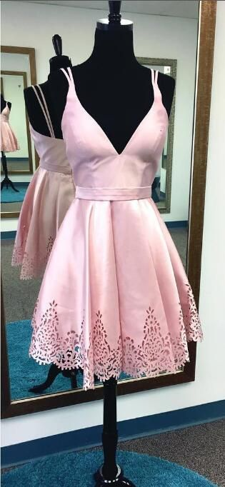 short homecoming dress, pink homecoming dress, 2017 homecoming dress