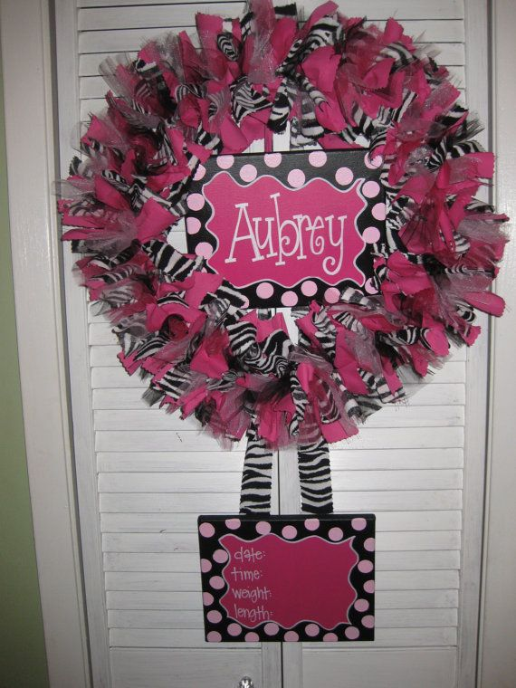 Adorable!! Baby Wreaths Birth Announcement!