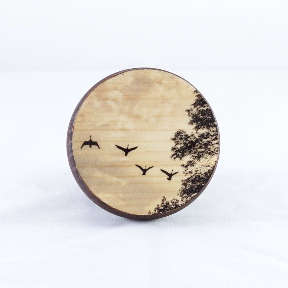 Small Wood Box  Birds Valentine's Gift by ameliaqualters on Etsy