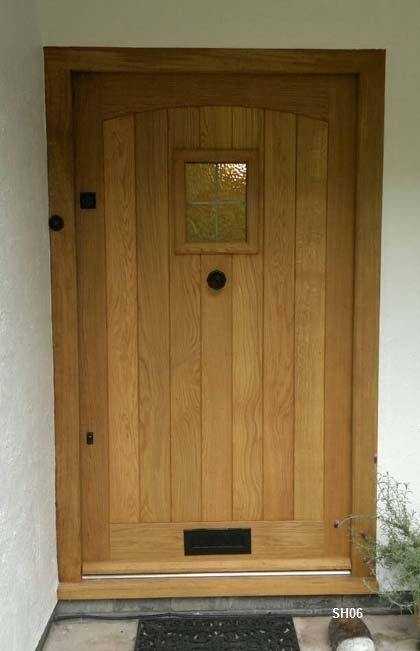 Oak Door External Swept Head