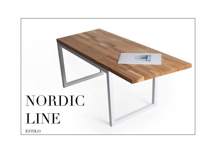 Rozmiar: 160cm długość x 65 szerokość x 75cm wysokość Grubość blatu stołu: 2,7cm Wykończenie: jesion lakierowany, stal lakierowana proszkowo, kolor biały. Wykończenie: jesion lakierowany, stal lakierowana proszkowo. Chętnych do zakupu zapraszamy na naszą stronę internetową. Dostępne warianty wykończeń są związane z wyceną indywidualną. Drewno: dąb, jesion, buk oraz akacja. Rozmiar: możemy wykonać według zamówienia. www.estilo-art.pl