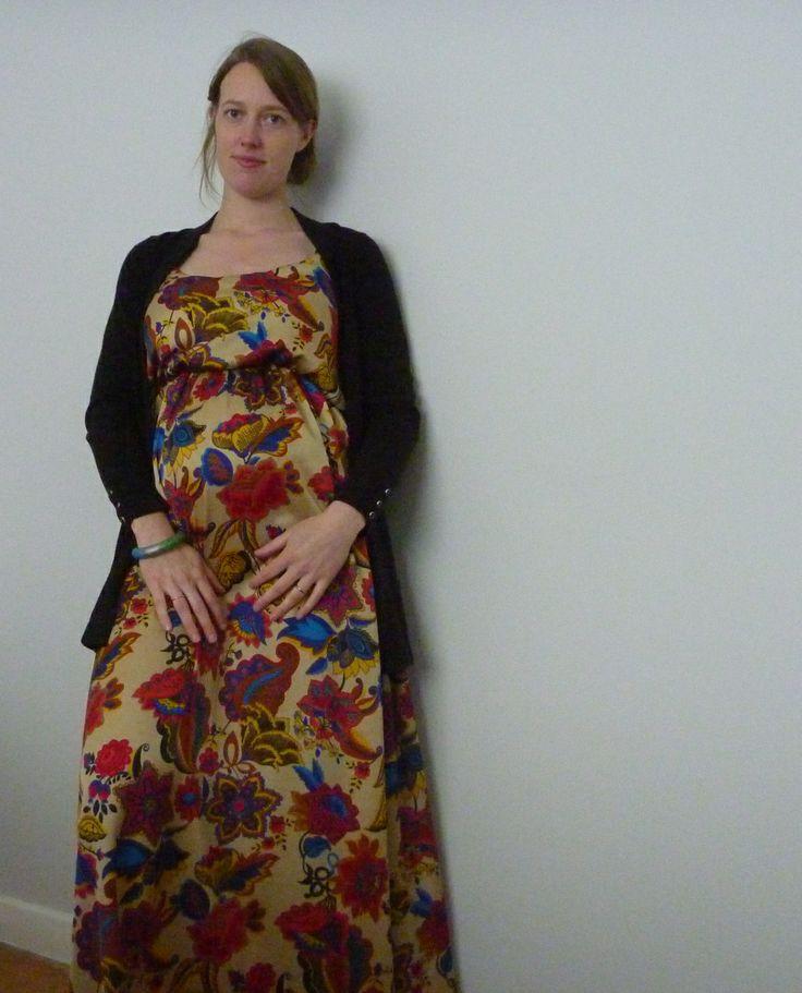 Maternity version of the Sewaholic Saltspring dress