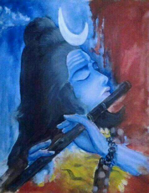 Coming across Shiva playing a flute for the first time!