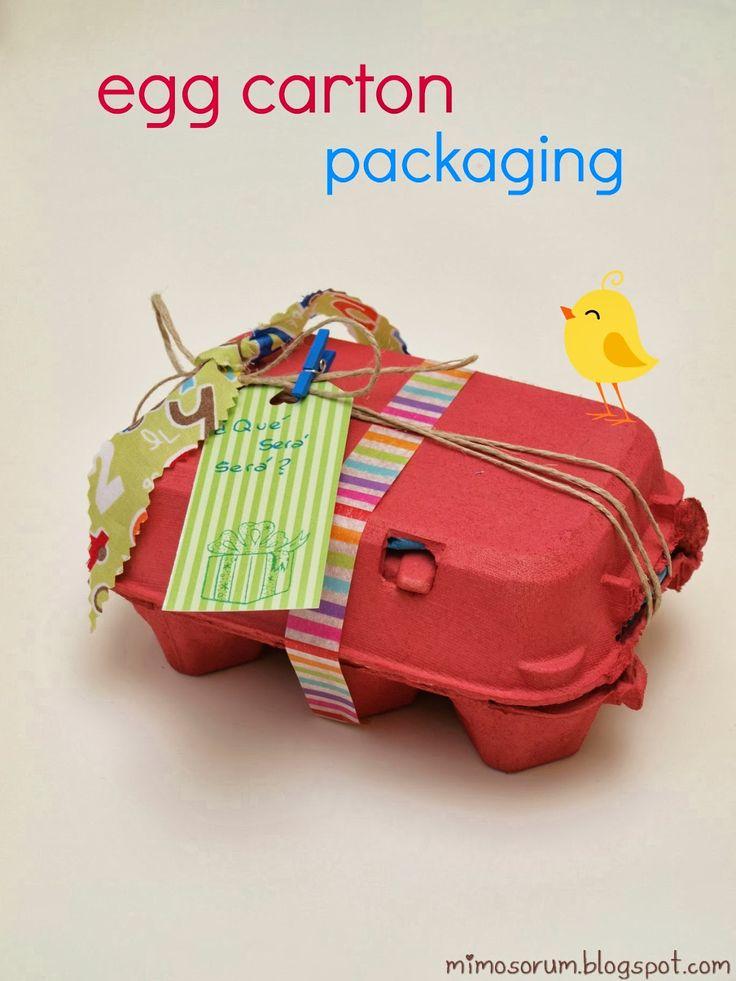 Tutorial para hacer un embalaje creativo y personalizado con una huevera. DIY: Egg carton Packaging