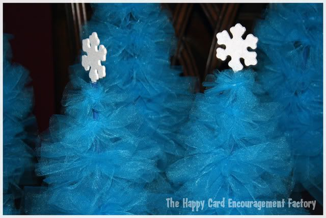 The Happy Card Encouragement Factory: Tulle Christmas Trees, What Not to Do