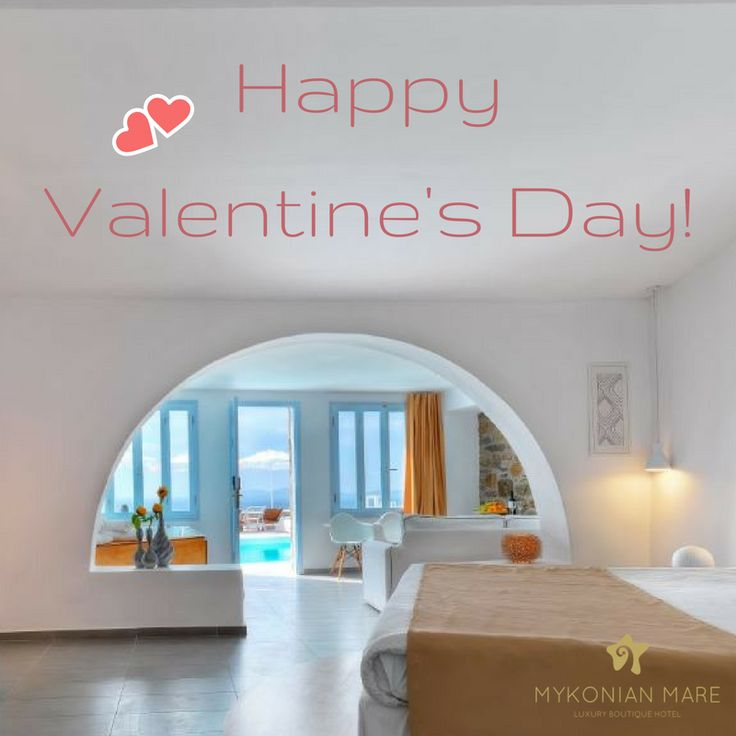 Happy Valentine's Day! Give the most romantic gift to your partner and book your holidays in #Mykonos at #MykonianMare Luxury Boutique Hotel.  #HappyValentinesDay #HappyValentinesDay2018 #Mykonos #Hotel #Greece #Travel #Romance #Love