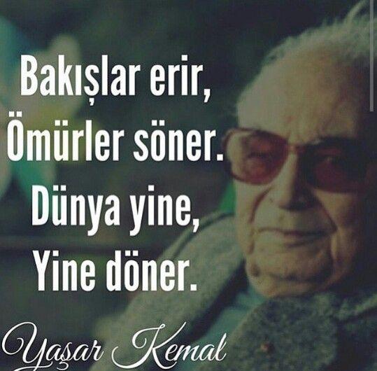 Duygusal Yaşar Kemal Sözleri
