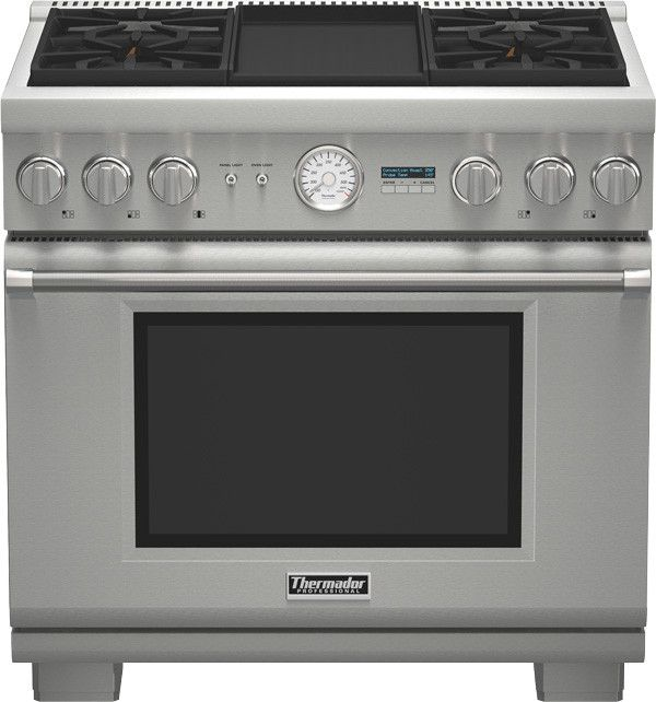 Thermador Pro Grand Professional 36 Freestanding Dual Fuel Range