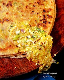 STUFFED CABBAGE PARATHA RECIPE / PATTA GOBI PARATHA | Cook With Smile