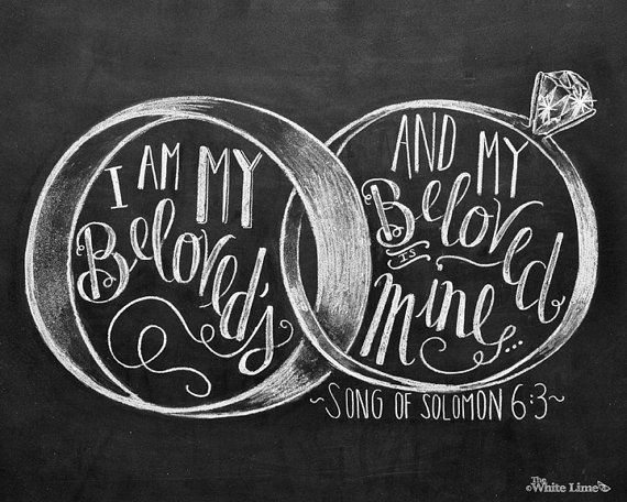 Wedding Sign I Am My Beloveds Song of Solomon 6:3 por TheWhiteLime