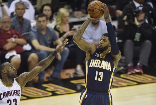 Indiana Pacers forward Paul George (13) shoots against Cleveland Cavaliers forward LeBron James (23) in the first quarter in Game 1 of the first round of the 2017 NBA Playoffs at Quicken Loans Arena.(Photo: David Richard, USA TODAY Sports)     CLEVELAND — Indiana Pacers star Paul George...  http://usa.swengen.com/i-have-to-have-the-last-shot/