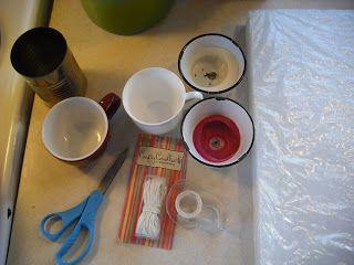 """I saw the idea for this on a bookcover in a bookstore on vacation and I thought it was so cute! You can make """"candle making"""" cheaper by re-using leftover wax and by utilizing the coupons for Hobby Lobby and Michaels. What you need: tin can wax(either from leftover candles or in the bar, I […]"""