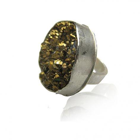 Gold Druzy / Maya Magal...<3 how it's so rustic looking:)