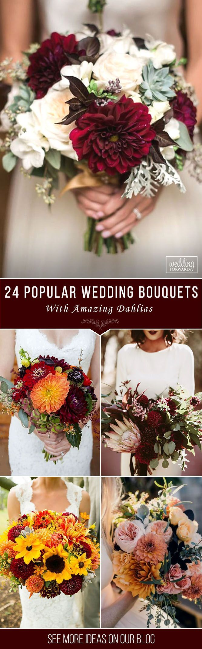 24 Wedding Bouquet Ideas & Inspiration - Peonies, Dahlias, and Lilies ❤️ The wedding bouquet ideas inspiration is an important part of the bridal look. By amazing and choose your own bouquet with peonies, lilies, and dahlias. See more: http://www.weddingforward.com/wedding-bouquet-ideas-inspiration/ #wedding #bouquets