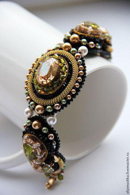 """Купить Браслет """"Perouse. RUES DE I'ITALE."""" - браслет, винтажные украшения, винтажный браслет"""