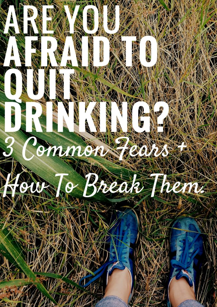 If you've struggled with your drinking in any capacity, questioned your  relationship with alcohol, are questioning your relationship with alcohol,  or are wondering if you should quit or may have to quit, you will  understand what I'm about to say all too well: it's fucking terrifying.  To be sure, it is NOT the things that happen on the other side of quitting  drinking that are the hardest obstacles to overcome. The biggest roadblock  between anyone and sobriety is the decision to attempt…