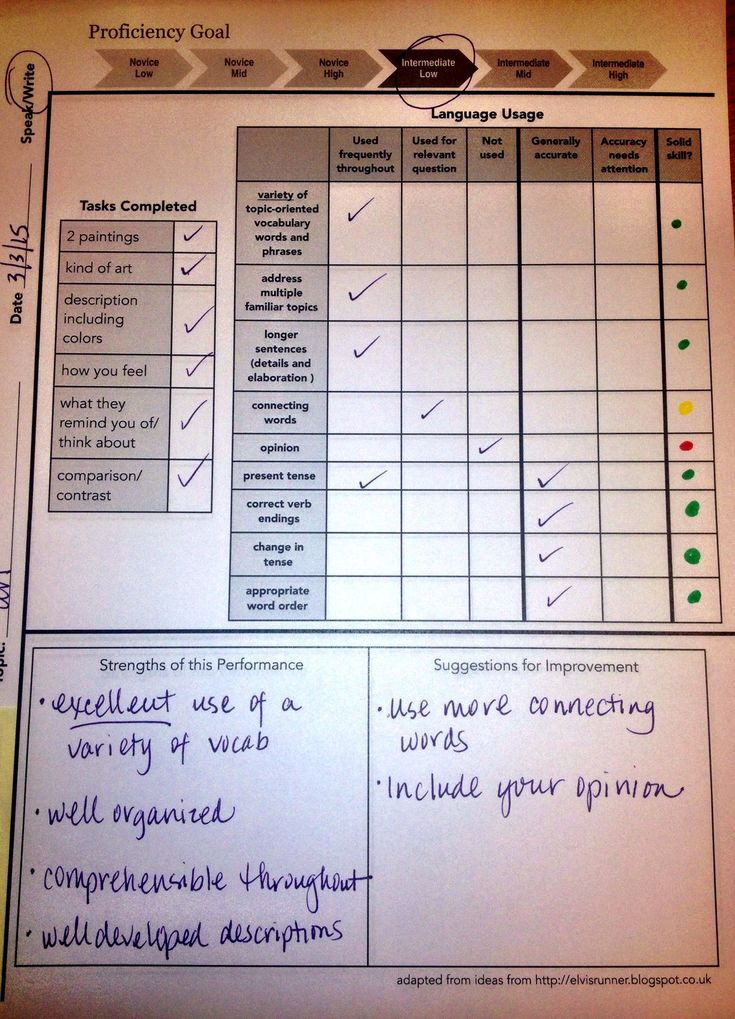compassionate assessment rubric from Bethanie