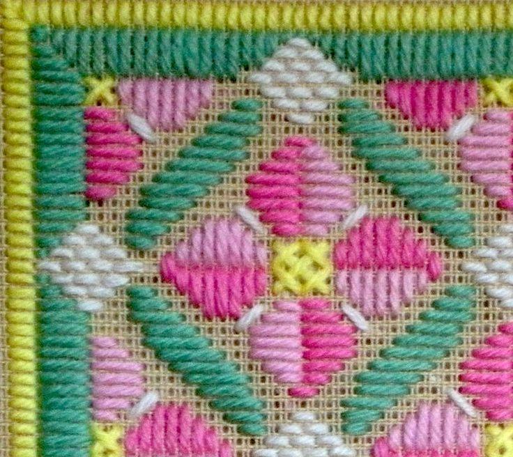 needlepoint stitches guide | Rose Romance Pattern - Rose Needlepoint pattern